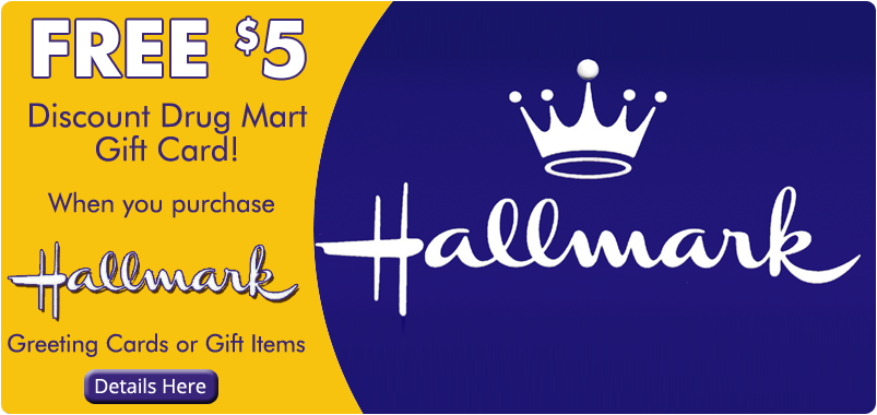 Free $5 gift card when you purchase Hallmark products